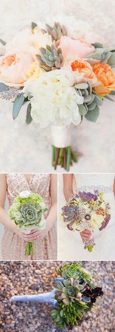 Las suculentas una alternativa original a las tradicionales flores.