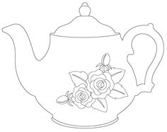 Free Teapot Template Coloring Page