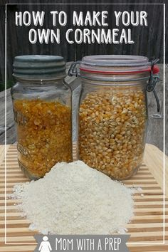 You can make nutritious and whole grained meals and flours without having to buy them from a grocery store! Grind your own! How to make your own Cornmeal from Dehdyrated Corn and/or Popcorn from Mom with a PREP!