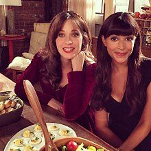 New Girl Cast, New Girl Tv Show, Hannah Simone, Nick And Jess, Zoey Deschanel, New Girl Style, Canadian Thanksgiving, Jessica Day, Canadian Actresses