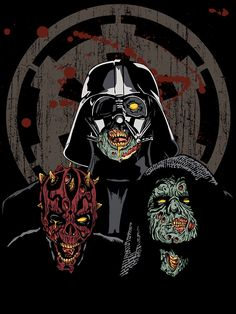 """gamefreaksnz:  """"The Imperial Undead"""" T-Shirt Design by ShantyShawn [5069150-1] - RedBubble Star Wars / Zombie T-Shirt of the day.. yours for US$23.94  If you thought the Empire was evil before, now they're undead and hungry  for some rebel flesh. If you love zombies and Star Wars, then this is a  must have for your wardrobe. Your Jedi friends will be sooo jealous!"""