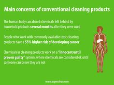 Ever wondered what effects chemical cleaning products can have on your body? via @AspenClean #GreenSpringClean