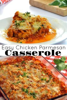 Easy Chicken Parmesan Casserole – Aunt Bee's Recipes Chicken Parmesan Casserole, Chicken Parmesan Recipes, Keto Chicken, Easy Casserole Recipes, Casserole Dishes, Casserole Ideas, Pre Cooked Chicken, Cooking Recipes, Kid Recipes