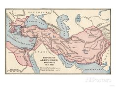 Map of the Empire of Alexander the Great in 323 Bc Giclee Print at AllPosters.com