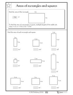 Area: rectangles and squares - Worksheets & Activities | GreatSchools