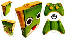 Custom Xbox 360 Game Console by ricepuppet - Xbox 360 - Ideas of Xbox 360 - Of course there will be lots of custom Xbox This one is adorable! Games For Teens, Adult Games, Console Xbox 360, Xbox Accessories, Custom Consoles, Xbox 360 Games, Old Video, Best Games, Video Game Console