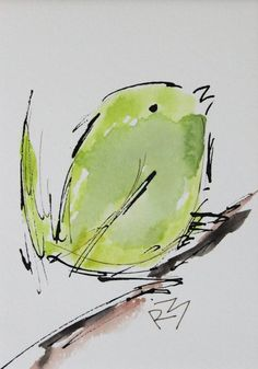"For Sale: Watercolor birds by Richard McKey | 8"" x 10"" including mat"