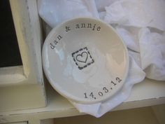 Personalised Small Wedding Dish Gift £8.00