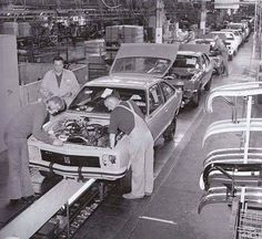 Holden production line with a Torana SS Hatch up front