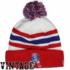 New Era New England Patriots On-Field Classic Cuffed Beanie - White Red d87be4e42229