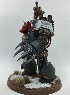 Even in death a Space Wolf may still serve a purpose. It really depends how they died though. Come take a look at today& Conversion Corner! Warhammer 40k Space Wolves, Warhammer Art, Warhammer Models, Warhammer 40000, Imperial Knight, Tyranids, Horse Paintings, Pastel Paintings, Equine Art