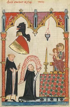 Manesse Codex - (1300 - 1340) Bruder Eberhard von Sax