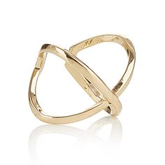 Criss-cross Statement Ring Gold Bangles, Bracelets, Mixed Metals, Statement Rings, Criss Cross, Gold Rings, Campaign, Jewelry, Jewlery
