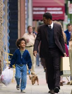 """Jaden and Will Smith in """"The Pursuit of Happiness"""""""