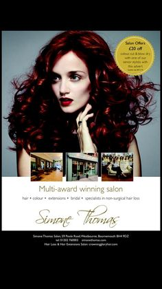 Our latest advertising poster - have a look! #hair #haircolour