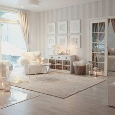 Thuesday afternoon I really like this open space at my home Tänään Interior Design Living Room, Living Room Designs, Living Room Decor, Bedroom Decor, Striped Wallpaper Living Room, Beautiful Living Rooms, My New Room, Home And Living, Modern Living