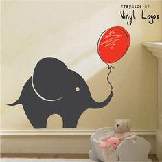 LARGE-ELEPHANT-ART-BEDROOM-MURAL-STENCIL-WALL-STICKER-TRANSFER-VINYL-DECAL