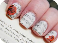 How To Do Newsprint Nails In 5 Easy Steps : This tutorial appeared in Kiss Magazine a few months ago. My friend Aisling and I absolutely loved it so we decided to share it with all of you who may not have seen it in Kiss. Aisling came over to my house and...