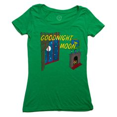 Goodnight Moon book cover women's t-shirt   Outofprintclothing.com // I will never be the same if I don't have one of these shirts.