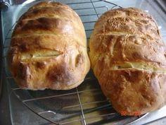 Rezept: Griechisches Weißbrot frisch aus dem Ofen