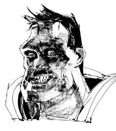 Bizarro Superman by Bill Sienkiewicz