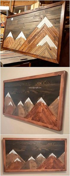 Fresh and Amazing Wood Pallet Crafting Ideas: Thinking about designing something really creative with the shipping wood pallets? Do you desire to add up your house with the unique. Pallet Crafts, Diy Pallet Projects, Wood Crafts, Woodworking Projects, Wood Projects That Sell, Wood Projects For Beginners, Pallet Designs, Wood Wall Art, Wall Décor