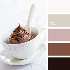 """""""dusty"""" pink, beige, black, chocolate color, coffee cream, gentle color, pastel pink, pink, shades of brown, the color of chocolate cake, the selection of colors for the wedding."""