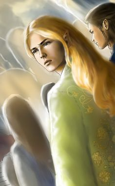 Glorfindel and Ecthelion by Annamare.