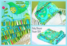 Baby Gifts: Pretty Bird Ruffled-Edge Blanket