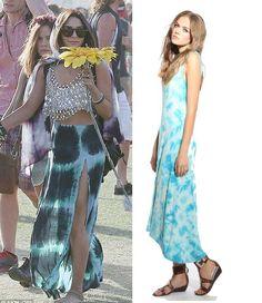 Kensie maxi tie-dye dress - Vanessa Hudgens #coachella style