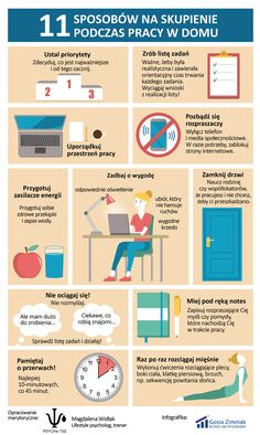 How to stay focused when working from home - infographic College Checklist, Languages Online, Fit Girl, E Mc2, Classroom Language, School Hacks, Study Motivation, Study Tips, Self Development