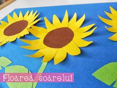 Colaj Floare de soare -  Sunflower kids craft