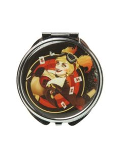 DC Comics Harley Quinn Circular Hinge Mirror  MUST HAVE to complete my makeup collection!