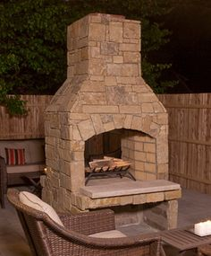 granite outdoor fireplace | Stone outdoor fireplace with stone ...