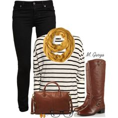 """""""Comfy Fall Outfit"""" by maria-garza on Polyvore"""