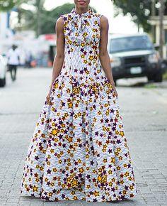 Star African print maxi dress African dress by CoCo Creme Couturier ~African fashion, Ankara, kitenge, Kente, African prints, Senegal fashion, Kenya fashion, Nigerian fashion, Ghanaian fashion ~DKK