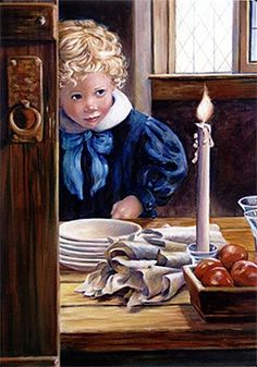 This is an original oil on canvas art painting by American Artist Marie Witte, named 'Candles' (completed in Fine art prints of the original painting are available for purchase. Painting For Kids, Painting & Drawing, Art For Kids, Art Children, Watercolour Painting, Hyper Realistic Paintings, Oil Candles, Impressionist Art, Country Art