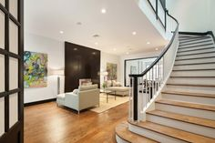 Living room of a brownstone on W 74th selling for $9.5M; 4 floors, 12 rooms...