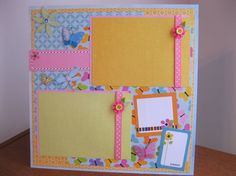 Cute For Girls 12 x 12 Premade Scrapbook Page on Etsy, $8.00