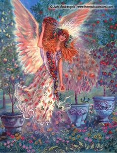 Angel Art | Autumn Angel art by Judy Mastrangelo
