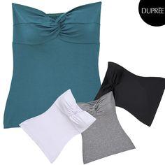Blusas strapless de colores. Mujer moderna Dupree