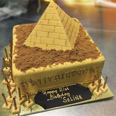 Although we have many basic cake orders, occasionally we produce these extraordinary pieces! Pyramid cake with hieroglyphics! Amazing! • #egyptian #pyramid #pyramidcake #hieroglyphics #pastrykitchen #pastrykitchenhawthorn #glenferrieroad #hawthorn #cake #cakedesigns #cakedecorating #cafe #catering #cupcakes #bestcakes #cakecrazy #cakelove #cakefrenzy #melbournecakes #cakeorders #melbournecakeorders • #glutenfreeoptions #desert #catering #coffee #cafe #hawthorn #glenferrieroad #pastrykit...