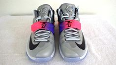 Nike KD VII 7 ALL STAR Pure Platinum Multi Color Kevin Durant 742548-090 SZ  10.5