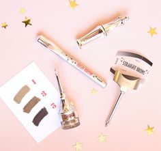 Bigger & Bolder brows kit- £28.50 Build brow drama! This BROWtiful colour kit takes brows from natural-looking to dramatic. It contains everything you need to fill, sculpt & set your brows. Includes our signature Tips & Tricks and special eyebrow stencils so any gal can create an expert, personalised brow shape. xx