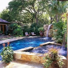 pool landscape design...starting to make payments for a pool for next year...love this one.