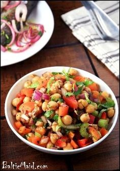 Puerto Rican Chickpea Salad #food #recipes