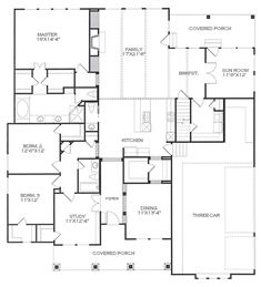 Southwest Style House Plans 1264 Square Foot Home 2 Story 3 Bedroom
