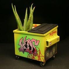 dumpster graffiti | ... dumpsters the graffiti painted miniature steel dumpsters are each