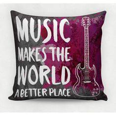 Almofada decorativa em tecido estampado -  MUSIC ROCK  – 45cm X 45cm http://www.decorsoft.com.br/ #pai #diadospais #presente #motos #decorsoft #decor #almofadas #decoração @decor_soft
