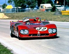 Andrea de Adamich / Henri Pescarolo / Nino Vaccarella - Alfa Romeo T33/3 - Autodelta S.p.a. - 12 Hours of Sebring - 1971 International Championship for Makes, round 3 - Challenge Mondial, round 1
